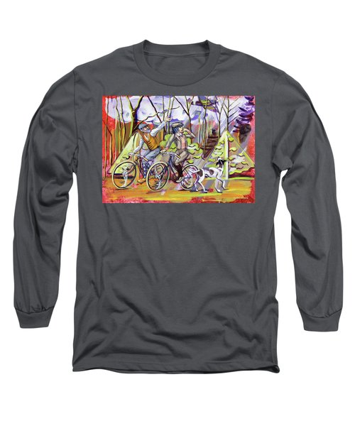 Walking The Dog 1 Long Sleeve T-Shirt by Mark Jones