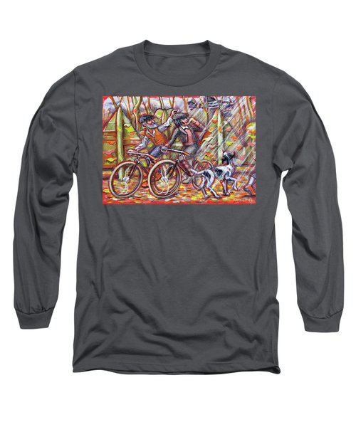 Walking The Dog 2 Long Sleeve T-Shirt by Mark Jones