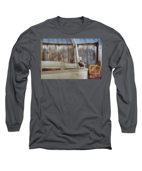 Long Sleeve T-Shirt featuring the photograph Walking The Plank by Benanne Stiens