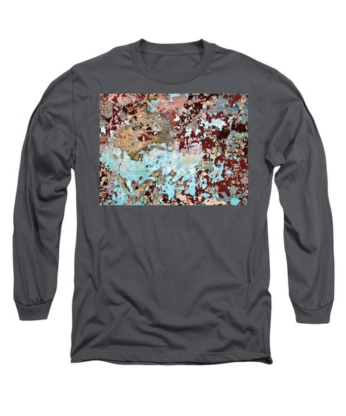 Wall Abstract 128 Long Sleeve T-Shirt by Maria Huntley