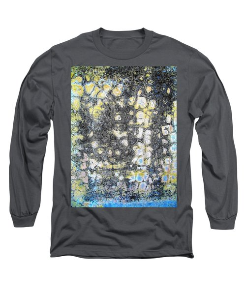 Wall Abstract 162 Long Sleeve T-Shirt by Maria Huntley