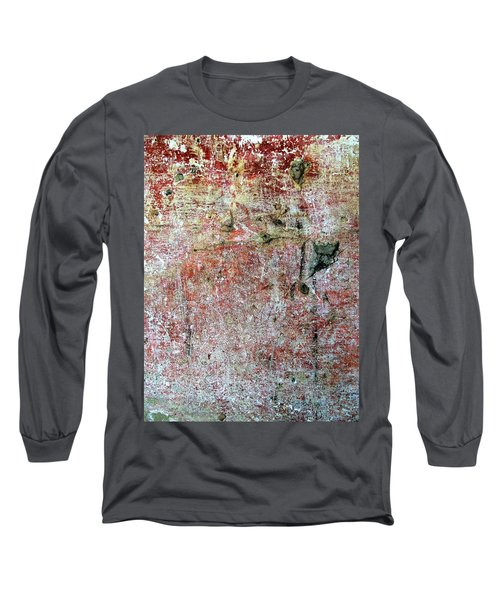 Wall Abstract 169 Long Sleeve T-Shirt by Maria Huntley