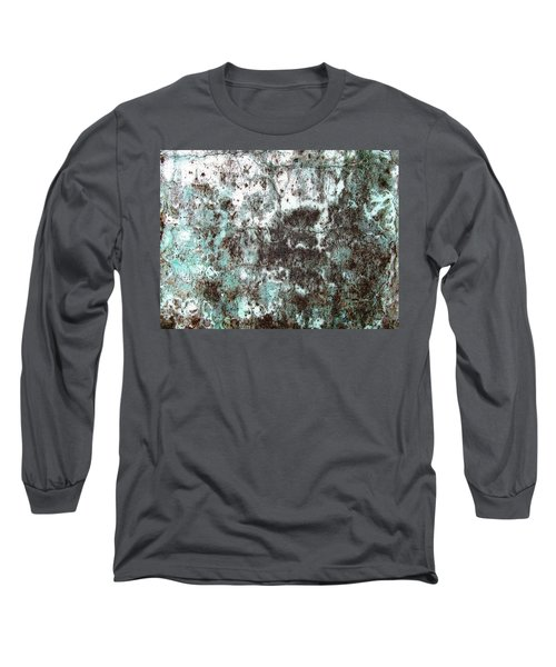 Wall Abstract 173 Long Sleeve T-Shirt by Maria Huntley