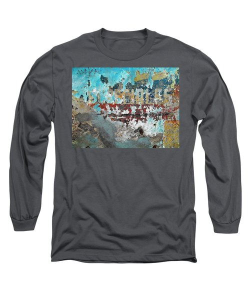 Wall Abstract 98 Long Sleeve T-Shirt by Maria Huntley