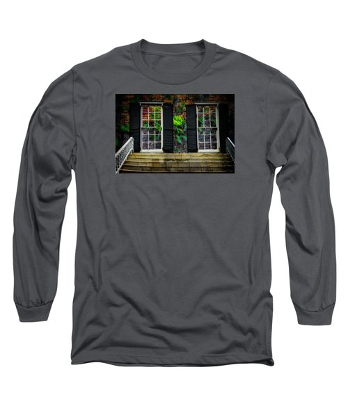 Long Sleeve T-Shirt featuring the photograph Walled Up Windows by Harry Spitz