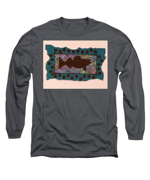 Walleye Silhouette Long Sleeve T-Shirt