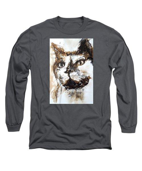 Walnut And Charcoal Long Sleeve T-Shirt