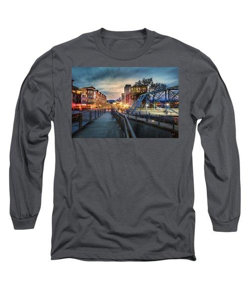 Walnut Street Circle Sunset Long Sleeve T-Shirt by Steven Llorca