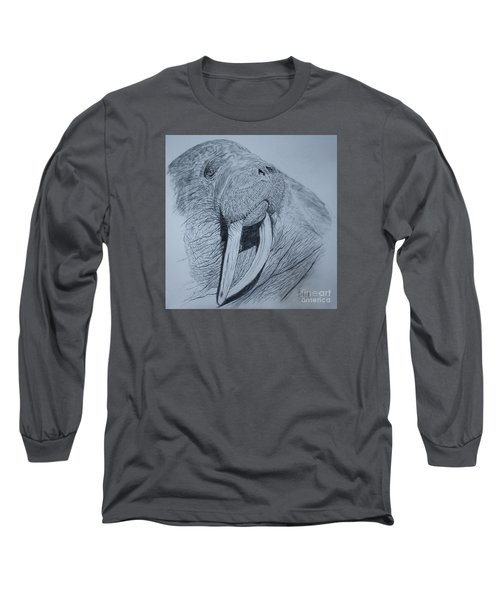 Walrus Long Sleeve T-Shirt by David Joyner
