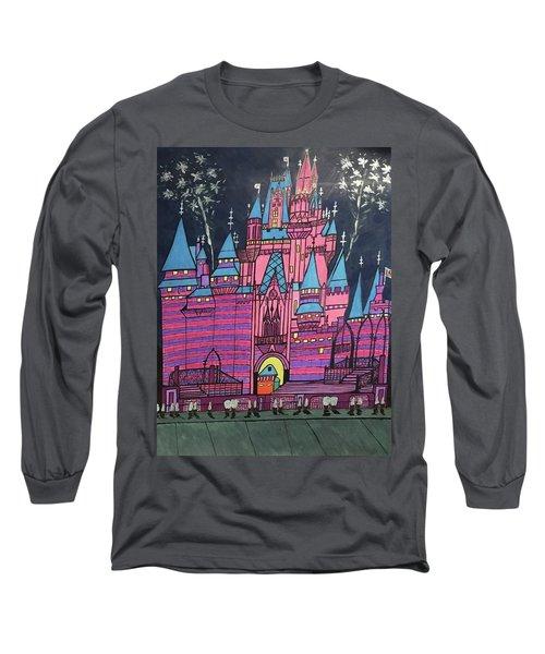 Walt Disney World Cinderrela Castle Long Sleeve T-Shirt by Jonathon Hansen