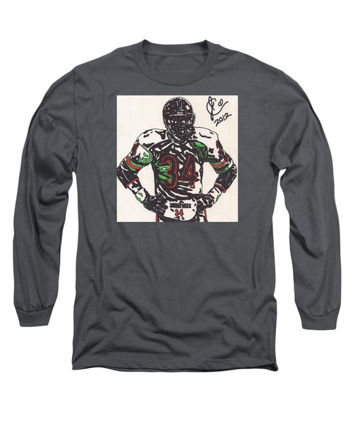 Walter Payton Long Sleeve T-Shirt by Jeremiah Colley