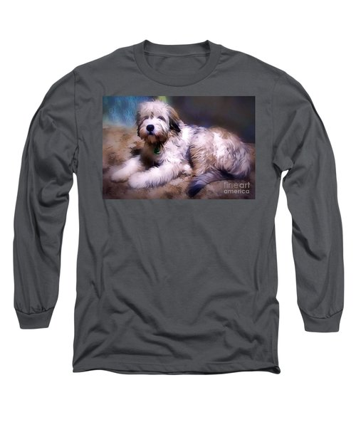 Long Sleeve T-Shirt featuring the digital art Want A Best Friend by Kathy Tarochione