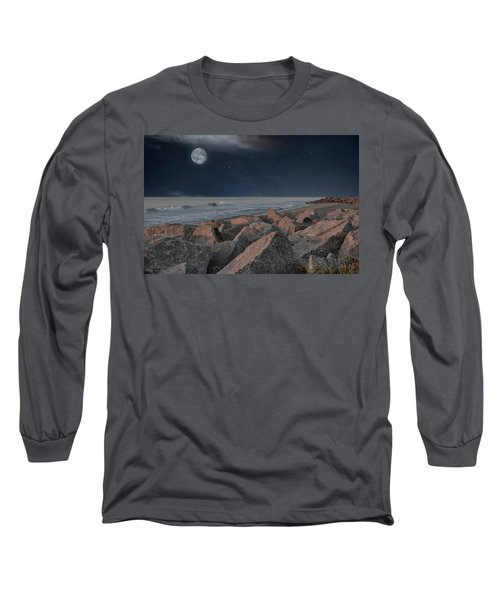 Warm Moonrise At For Fisher Long Sleeve T-Shirt
