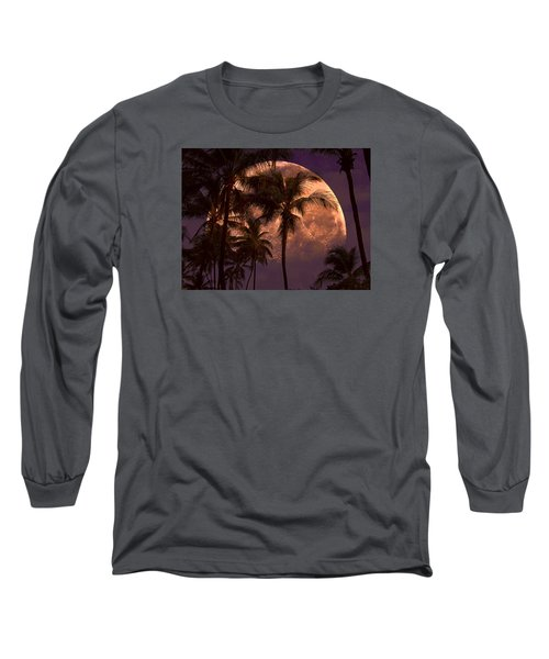 Warm Tropical Nights Long Sleeve T-Shirt by John Rivera