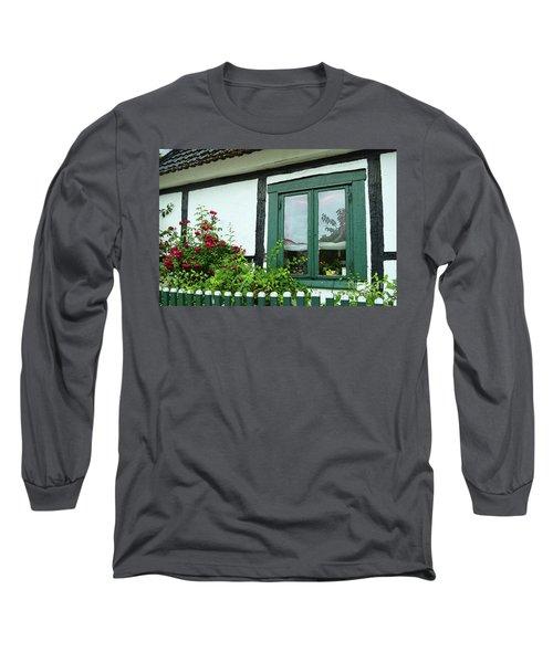 Warnemunde Germany Window Long Sleeve T-Shirt by Eva Kaufman
