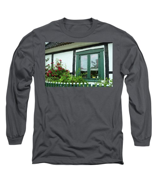 Warnemunde Germany Window Long Sleeve T-Shirt