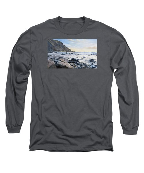 Long Sleeve T-Shirt featuring the painting Warren Point Sunset Duckpool by Lawrence Dyer