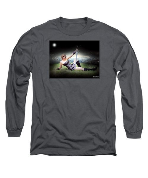 Warrior Princess At Rest Long Sleeve T-Shirt