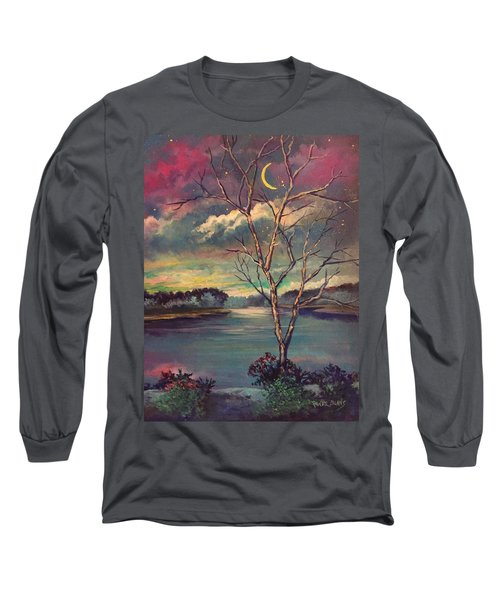 Was Like Stained Glass Long Sleeve T-Shirt by Randy Burns
