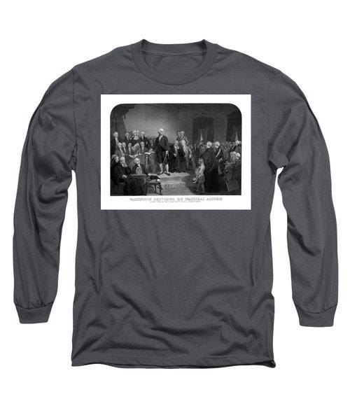 Washington Delivering His Inaugural Address Long Sleeve T-Shirt