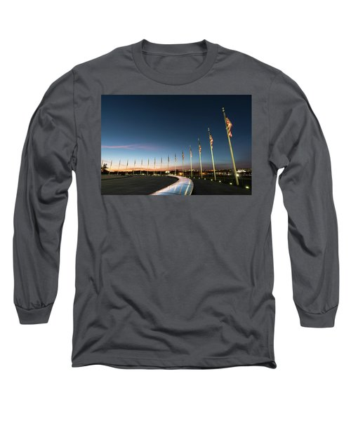 Washington Monument Flags Long Sleeve T-Shirt