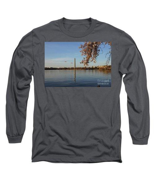 Washington Monument Long Sleeve T-Shirt by Megan Cohen