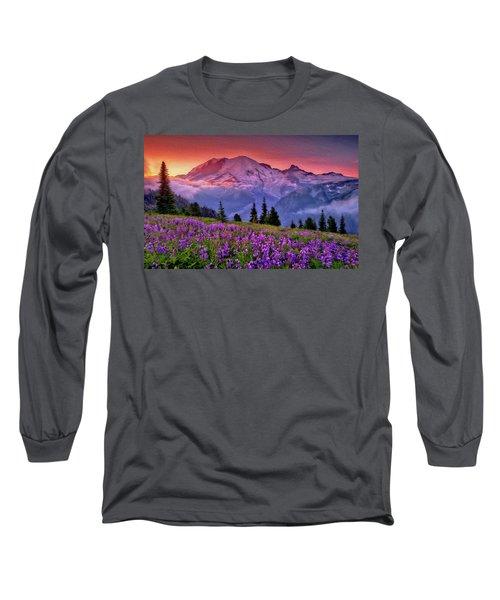 Washington, Mt Rainier National Park - 05 Long Sleeve T-Shirt