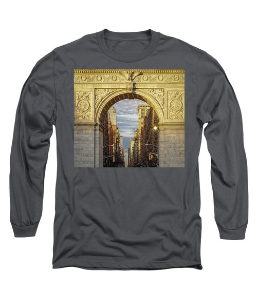 Washington Square Golden Arch Long Sleeve T-Shirt by Jeffrey Friedkin