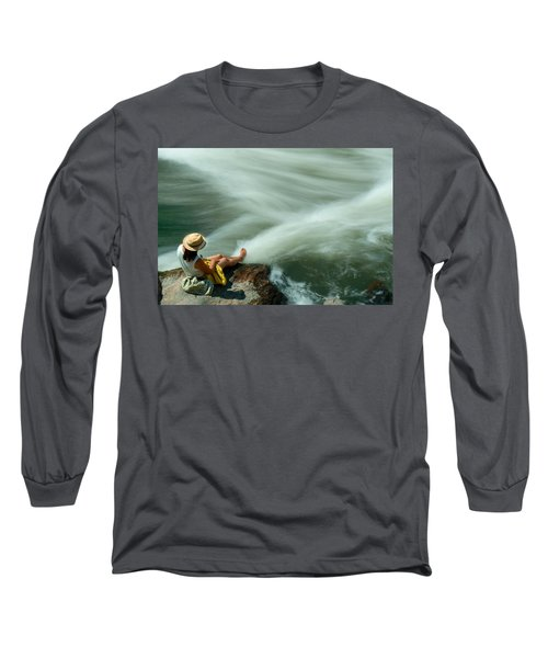 Watching The Rushing Water Long Sleeve T-Shirt