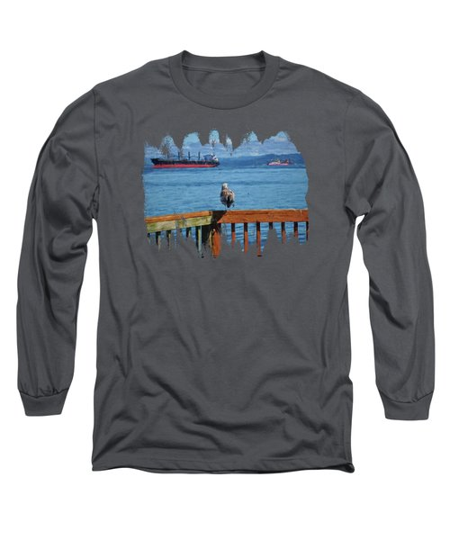 Watching The Ships Go By Long Sleeve T-Shirt
