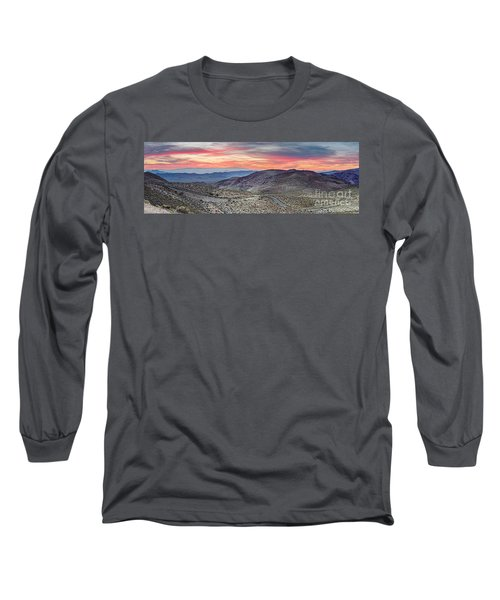 Watching The Sunrise From Dante's View - Black Mountains Death Valley National Park California Long Sleeve T-Shirt