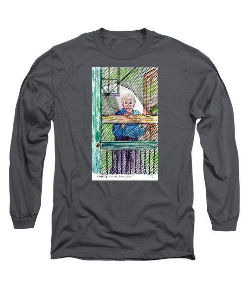 Watching To See If The Kids Are Coming Long Sleeve T-Shirt by Philip Bracco