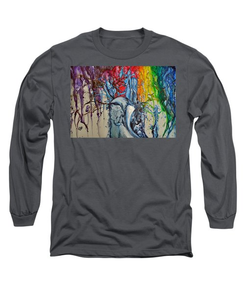 Water And Colors Long Sleeve T-Shirt