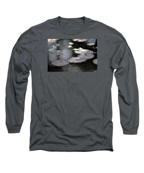 Long Sleeve T-Shirt featuring the photograph Water And Leafs by Dubi Roman