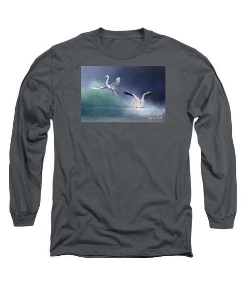 Water Ballet Long Sleeve T-Shirt by Bonnie Barry