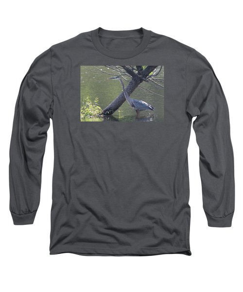 Water Bird And River Tree Long Sleeve T-Shirt