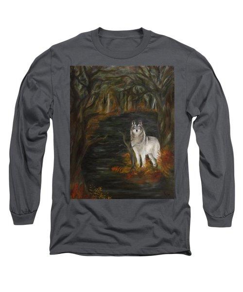Water Dark Long Sleeve T-Shirt