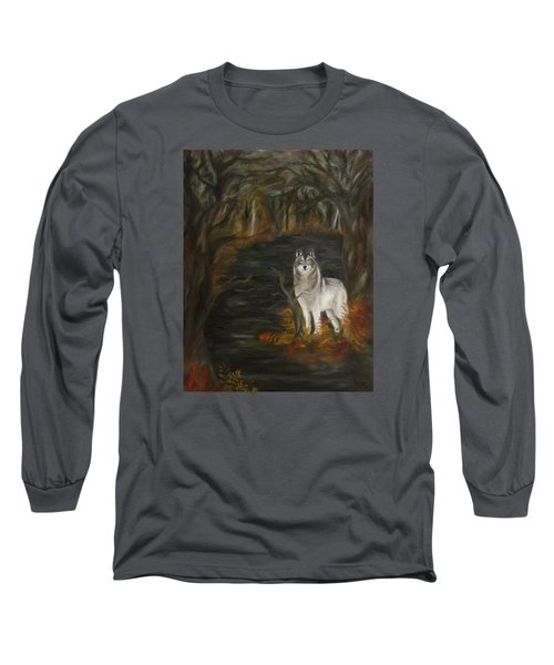 Water Dark Long Sleeve T-Shirt