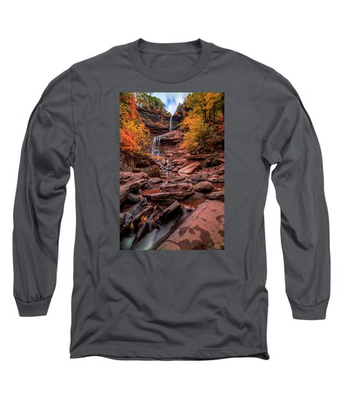 Long Sleeve T-Shirt featuring the photograph Water Falls  by Anthony Fields