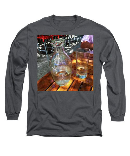 Water Glass And Pitcher Long Sleeve T-Shirt by Angela Annas