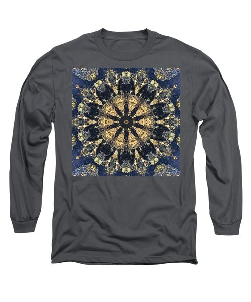 Long Sleeve T-Shirt featuring the mixed media Water Glimmer 4 by Derek Gedney
