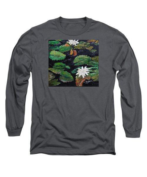 water lilies II Long Sleeve T-Shirt by Marilyn Zalatan