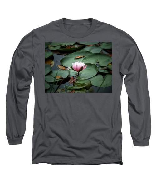 Long Sleeve T-Shirt featuring the photograph Water Lily by Karen Stahlros