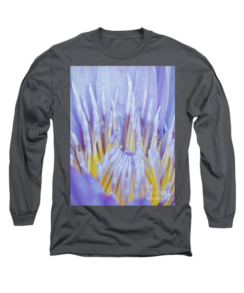 Water Lily Nature Fingers Long Sleeve T-Shirt by Carol F Austin