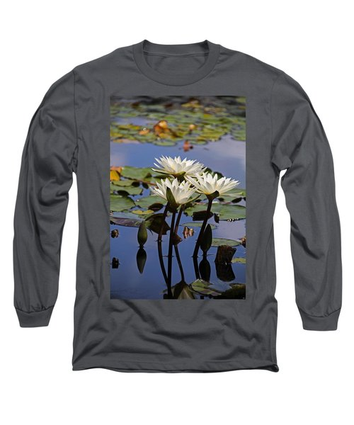 Water Lily Reflections Long Sleeve T-Shirt