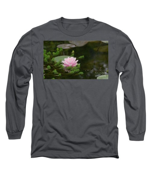 Water Lily Long Sleeve T-Shirt by Victor K