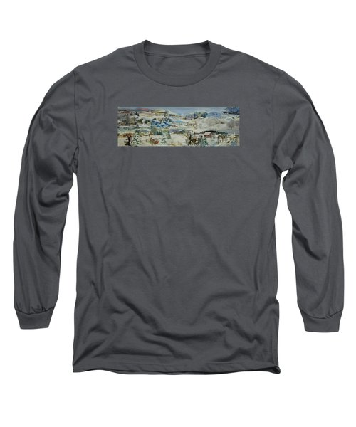 Water Pump In Winter - Sold Long Sleeve T-Shirt by Judith Espinoza