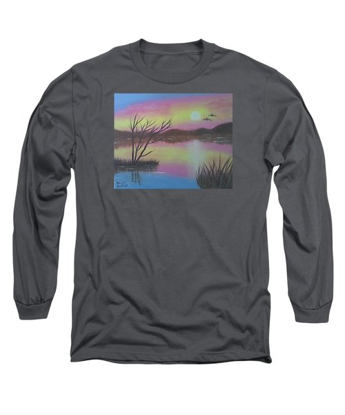 Water Reflections Long Sleeve T-Shirt by Brenda Bonfield