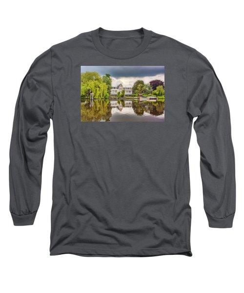 Water Reflections Long Sleeve T-Shirt by Nadia Sanowar
