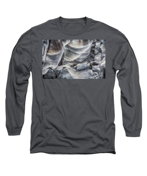 Water Sculpting Rock Art By Kaylyn Franks  Long Sleeve T-Shirt
